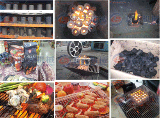 Smokeless barbecue charcoal machin