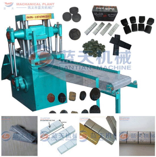 Silver charcoal tablet press machine
