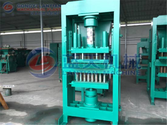 Hydraulic charcoal powder briquette machine