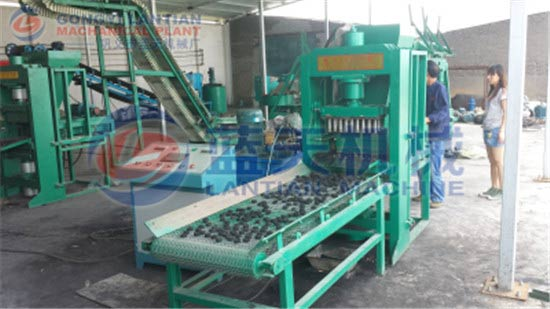 Hydraulic coal powder press machine