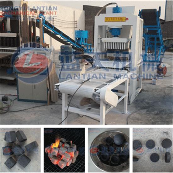 Hydraulic bamboo charcoal briquette machine